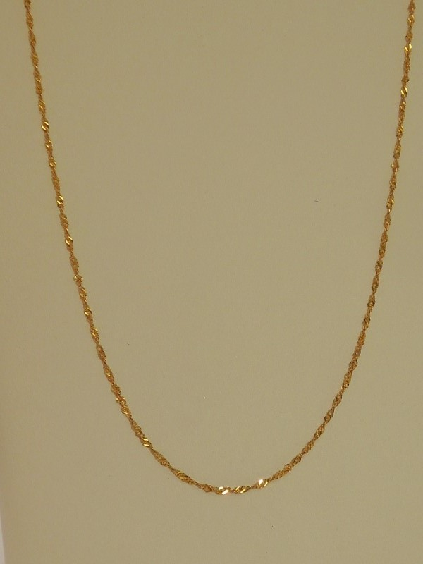 Gold Rope Chain 14K Yellow Gold 1g