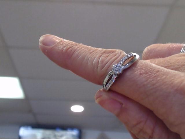 Lady's Diamond Fashion Ring 17 Diamonds .34 Carat T.W. 10K White Gold 1.55dwt