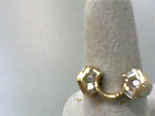 Lady's Gold-Diamond Ring Guard 10 Diamonds .20 Carat T.W. 14K Yellow Gold