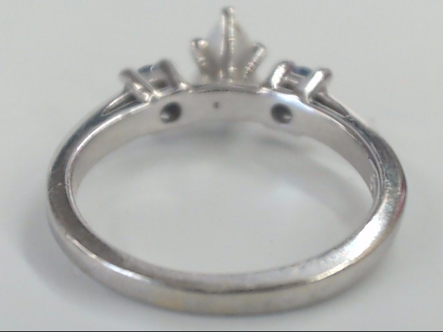 NATURAL DIAMOND SAPPHIRE ENGAGE RING SOLID 14K WHITE GOLD SHANE CO