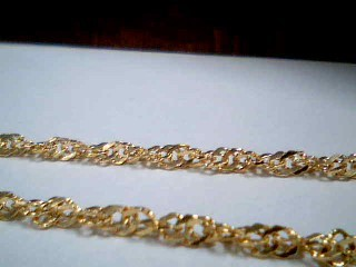 "20"" Gold Singapore Chain 14K Yellow Gold 2.9g"