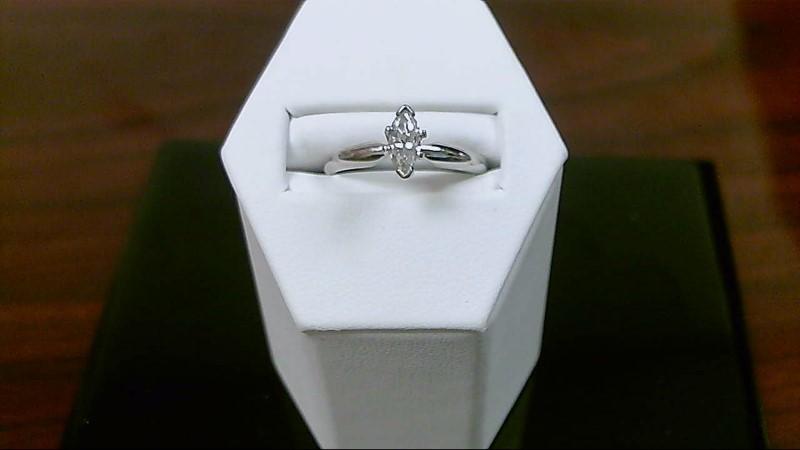 Lady's Platinum-Diamond Solitaire 2/5ct marquise diamond  950 Platinum 3.9g