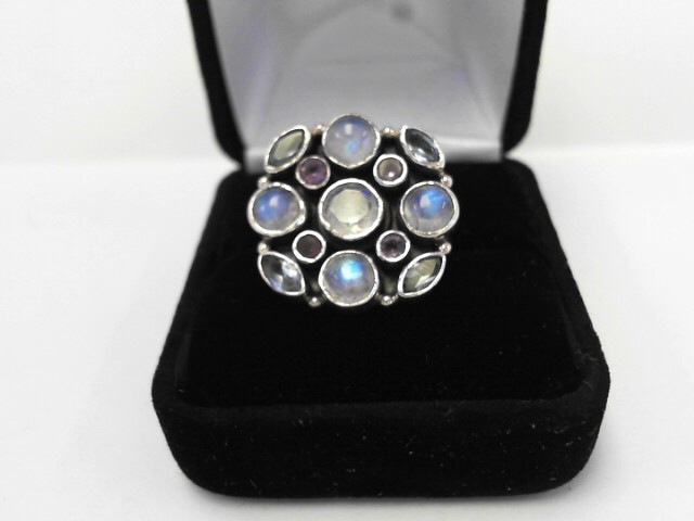 Purple Stone Lady's Silver & Stone Ring 925 Silver 5.8dwt