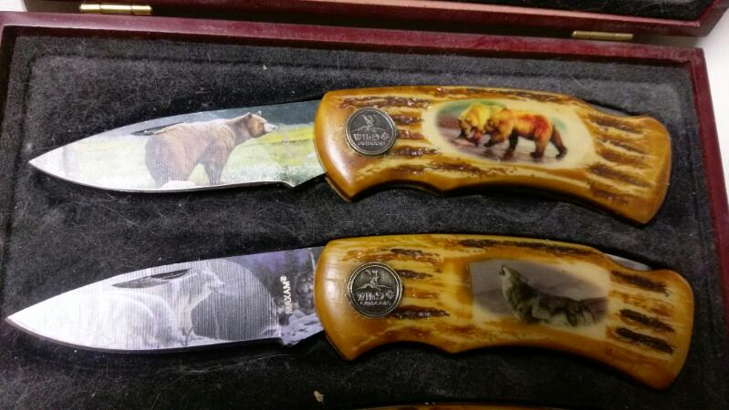 MAXAM WILD LIFE WEST COLLECTION 4PC KNIFE SET