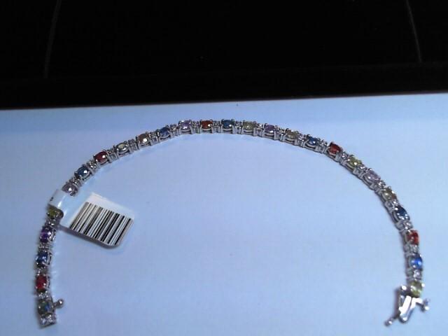 Gold Bracelet 14K White Gold 7.3dwt