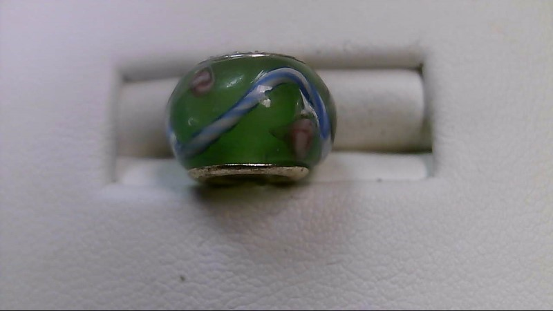 Green and Blue Glass Bead 925 Silver