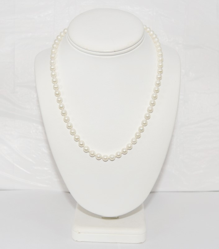 Pearl Stone Necklace 14K Yellow Gold 22.77g