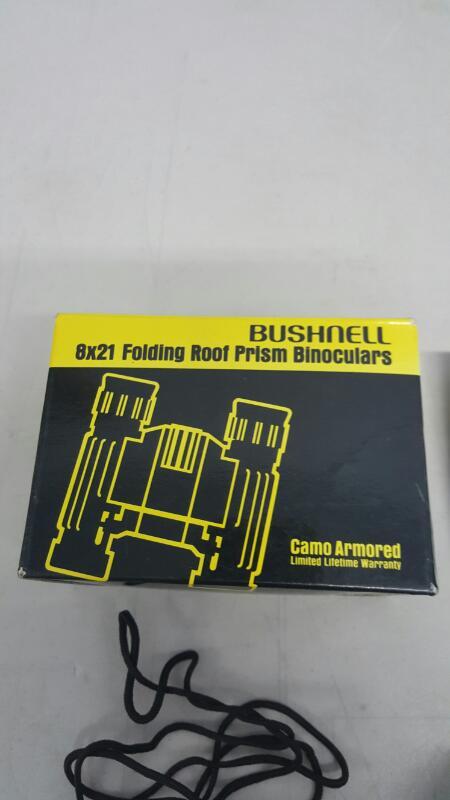Bushnell Compact 8x21 CAMO Folding Roof Prism Binoculars (8x21 FRP, 13-8211)