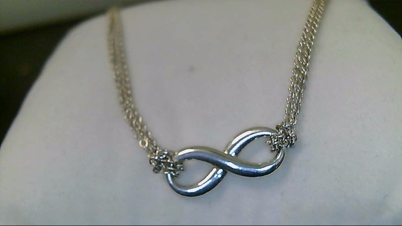 """LADY'S STERLING SILVER 925 INFINITY 16""""NECKLACE"""