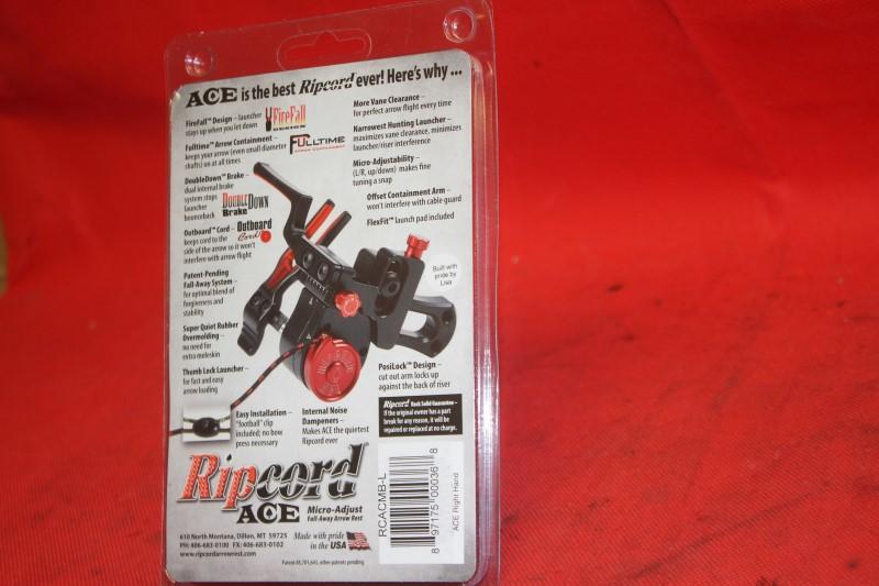 Ripcord ACE Micro Adjust Fall Away Compound Archery Arrow Rest RH Black