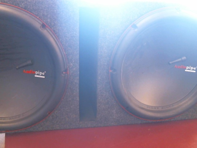 """AUDIO PIPE 12"""" SUBS IN BOX"""