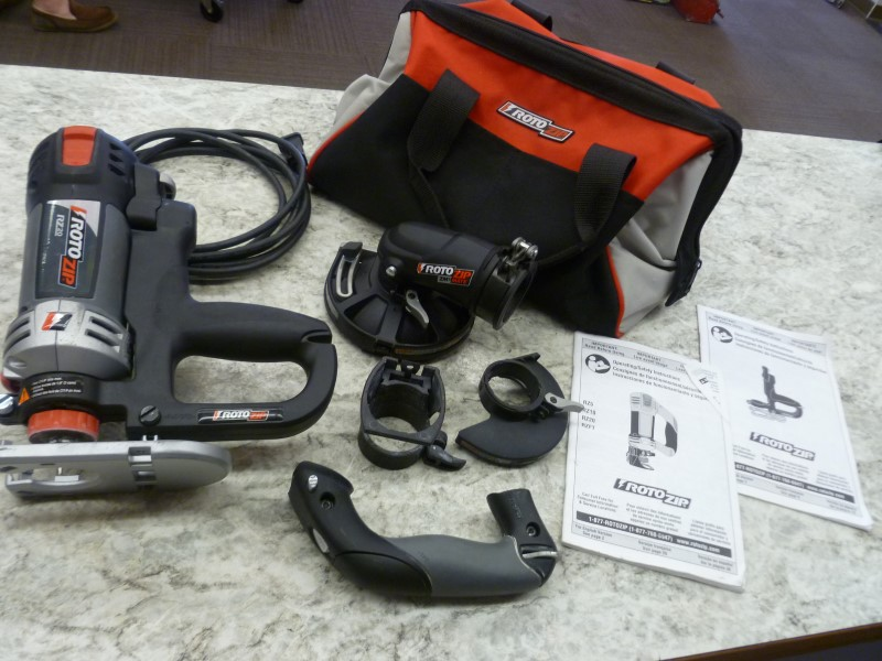 ROTOZIP RZ20 SPIRAL SAW KIT WITH ZIPMATE IN BAG