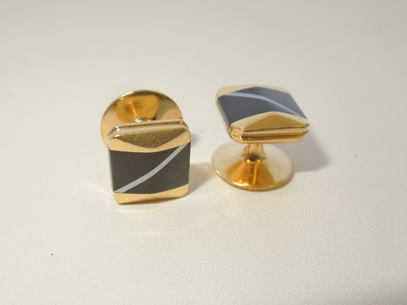 Gold Cuff Links 18K Yellow Gold 10.4g