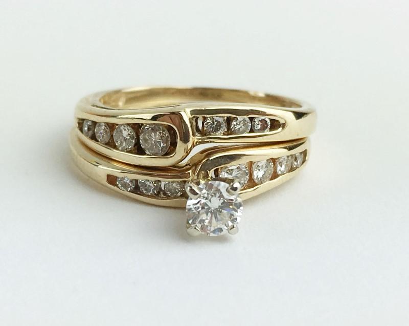 Diamond Cluster Ring 15 Diamonds .69 Carat T.W. 14K Yellow Gold 4.53g