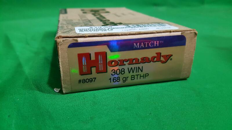 Hornady BTHP Match™ .308 Winchester 168-Grain Centerfire Rifle Ammunition
