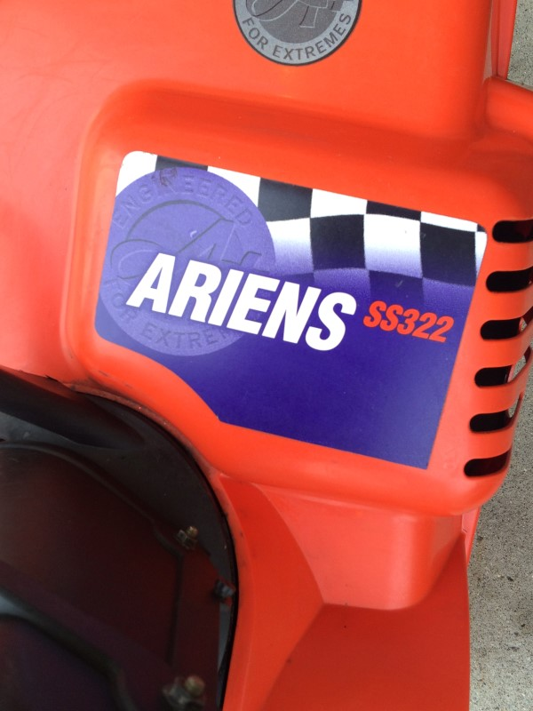 ARIENS Snow Blower 938015 Model SS322