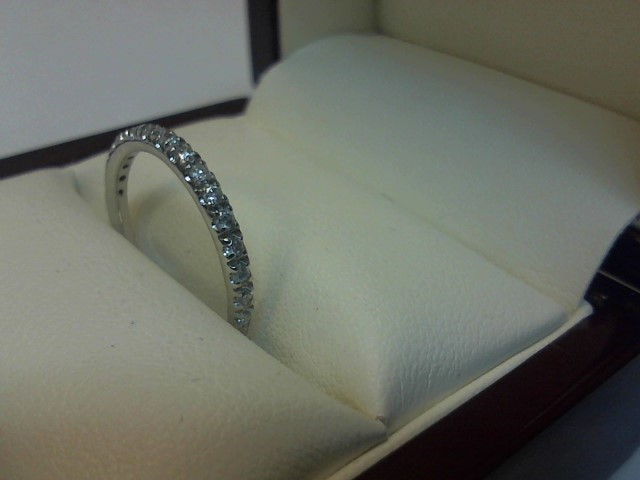 Lady's Diamond Fashion Ring 17 Diamonds .17 Carat T.W. 14K White Gold 1.1dwt