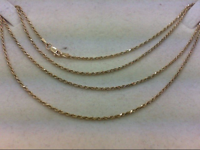 "24"" Gold Rope Chain 10K Yellow Gold 3.9g"