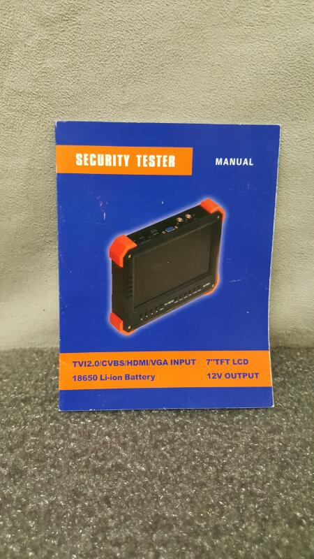 "Security Tester 7"" LCD Monitor, HD-TVI 2.0"