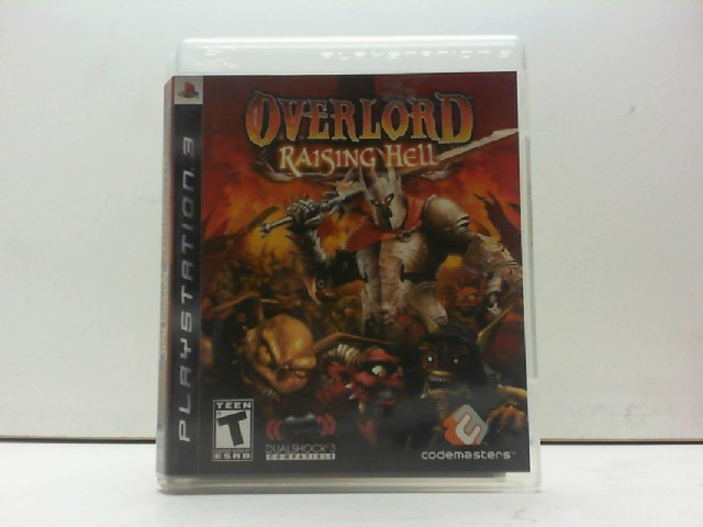SONY Sony PlayStation 3 Game OVERLORD RAISING HELL