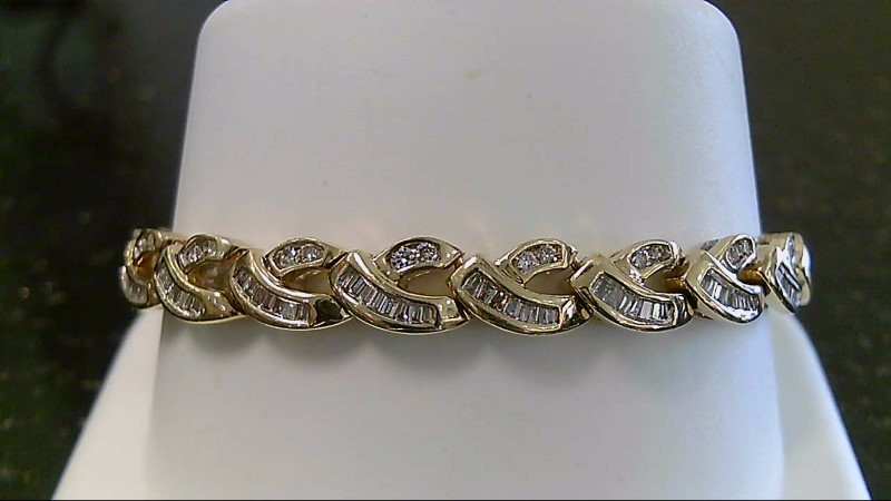 "7"" Gold Diamond Bracelet 190 Diamonds 2.70 CTTW 14K Yellow Gold 25.8g"