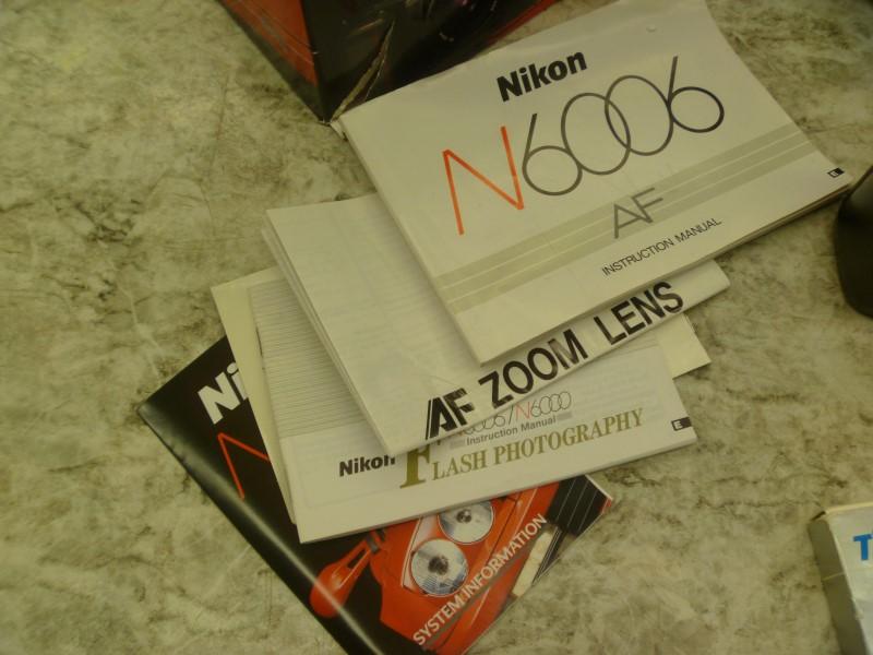 NIKON CAMERA N6006 AF - COMPLETE SET - SIGMA 35-80MM LENS, TIFFEN RED 25 FILTER