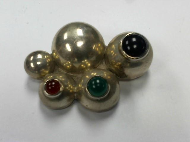 Black Stone Silver-Stone Pendant 925 Silver 15.5g