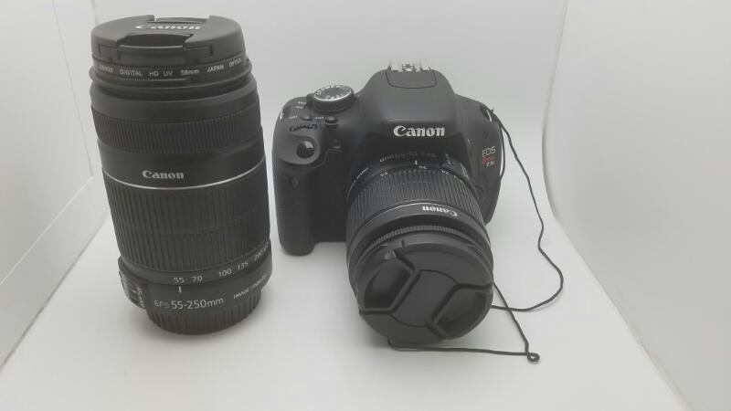 CANON EOS REBEL T3I 18MP 8GB W/18-55MM & 55-250MM LENS 4659 SHUTTER COUNT