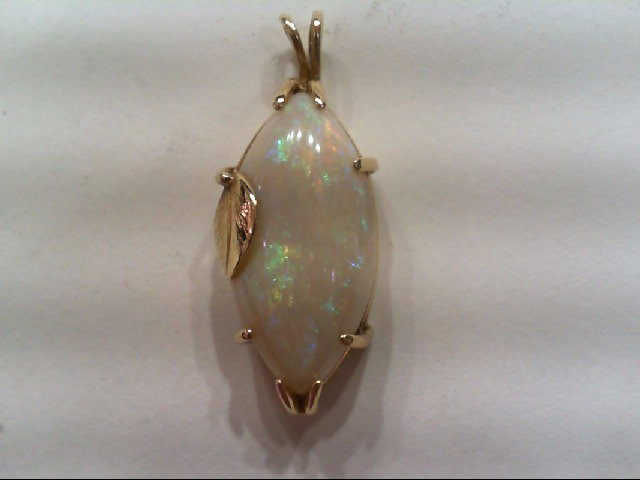 Opal Gold-Stone Pendant 14K Yellow Gold 3.1g