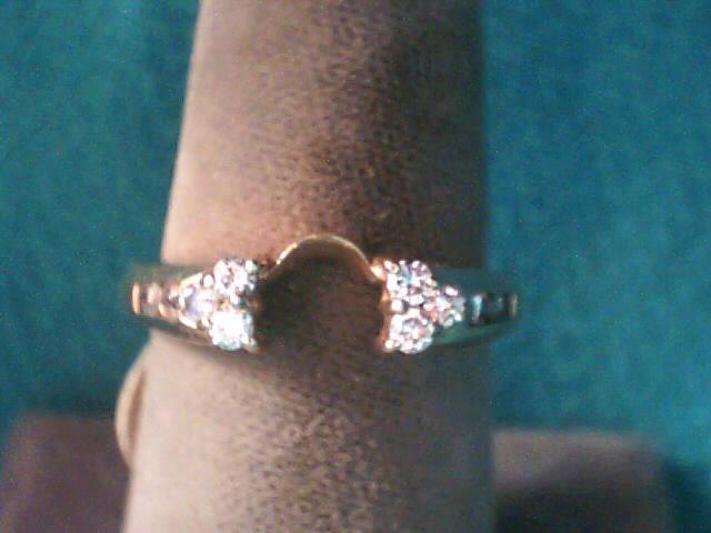 Lady's Gold-Diamond Ring Guard 10 Diamonds .20 Carat T.W. 10K Yellow Gold