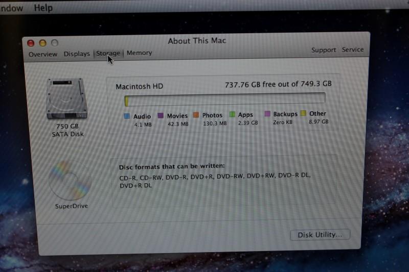 Apple MacBook Pro 2.8GHz Intel i7, 750GB HD, 4GB Memory Late 2011