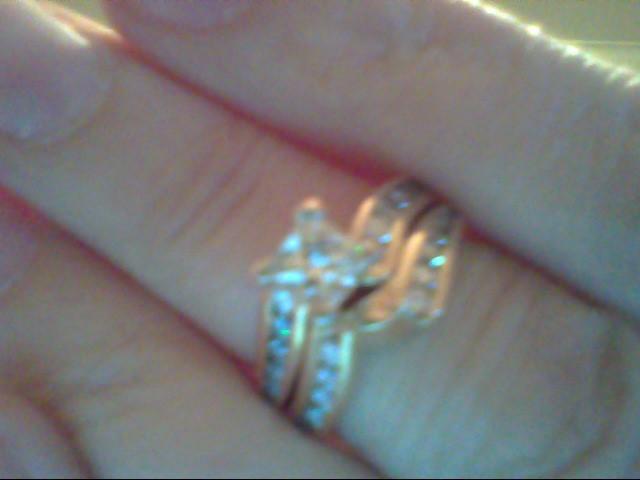 Lady's Diamond Wedding Set 25 Diamonds .93 Carat T.W. 14K Yellow Gold 5.8g