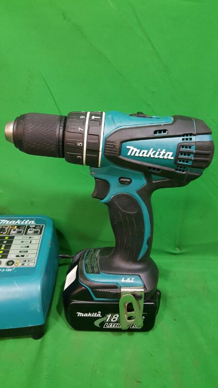 MAKITA 18-Volt LXT Lithium-Ion 1/2 in. Cordless Hammer Driver-Drill