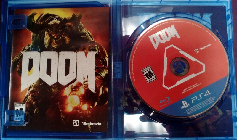 SONY PLAYSTATION 4 GAME PS4 DOOM