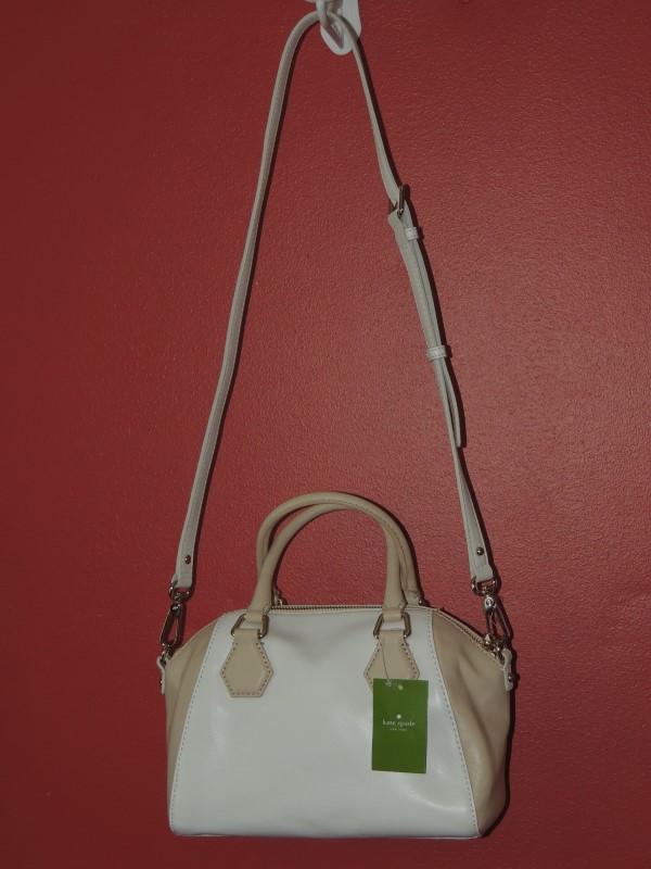 KATE SPADE PXRU4882 CATHERINE STREET MINI PIPPA CROSSBODY BAG FRESH WHITE NWT