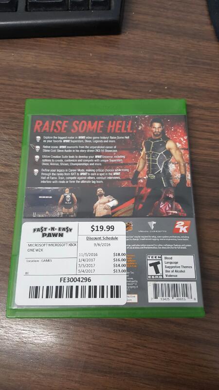 WWE 2K16 (Microsoft Xbox One, 2015)