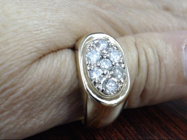 VINTAGE NATURAL DIAMOND CLUSTER RING BAND SOLID 10K GOLD MEN SZ 8.75