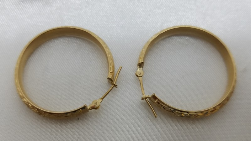 Gold Earrings 14K Yellow Gold 2g