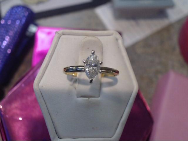 Lady's Diamond Engagement Ring .50 CT. 14K Yellow Gold 0.95dwt
