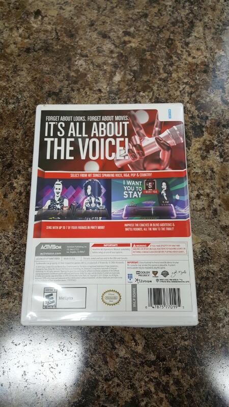 NINTENDO Nintendo Wii Game WII THE VOICE