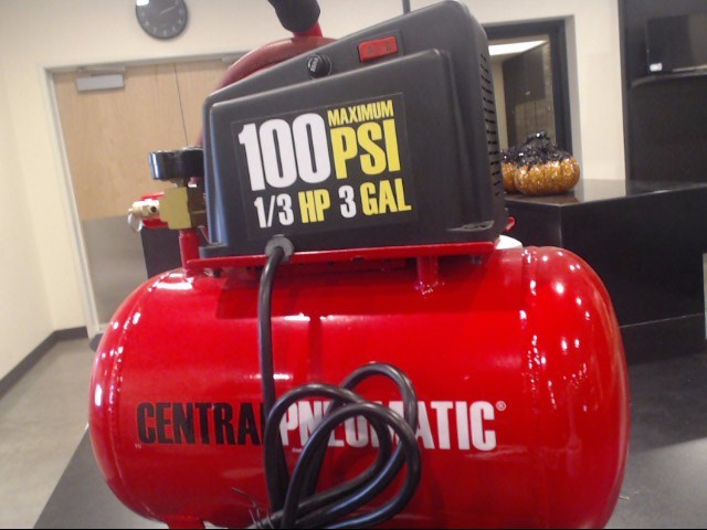 CENTRAL PNEUMATIC Air Compressor RED SIZE-3GAL