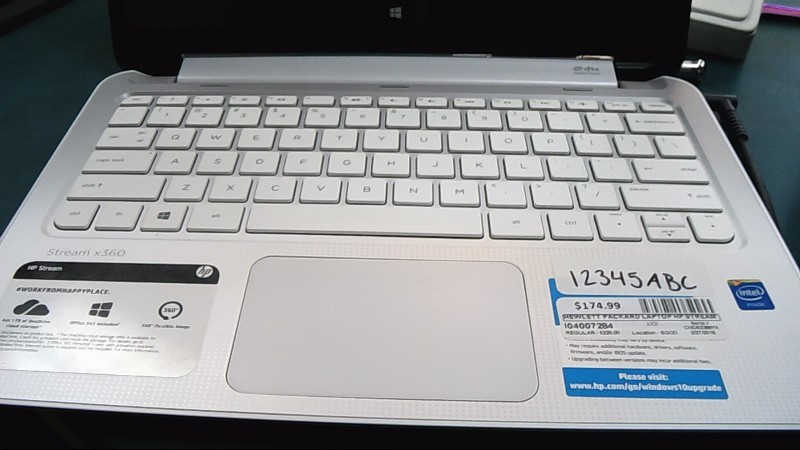 HEWLETT PACKARD Laptop/Netbook STREAM X360