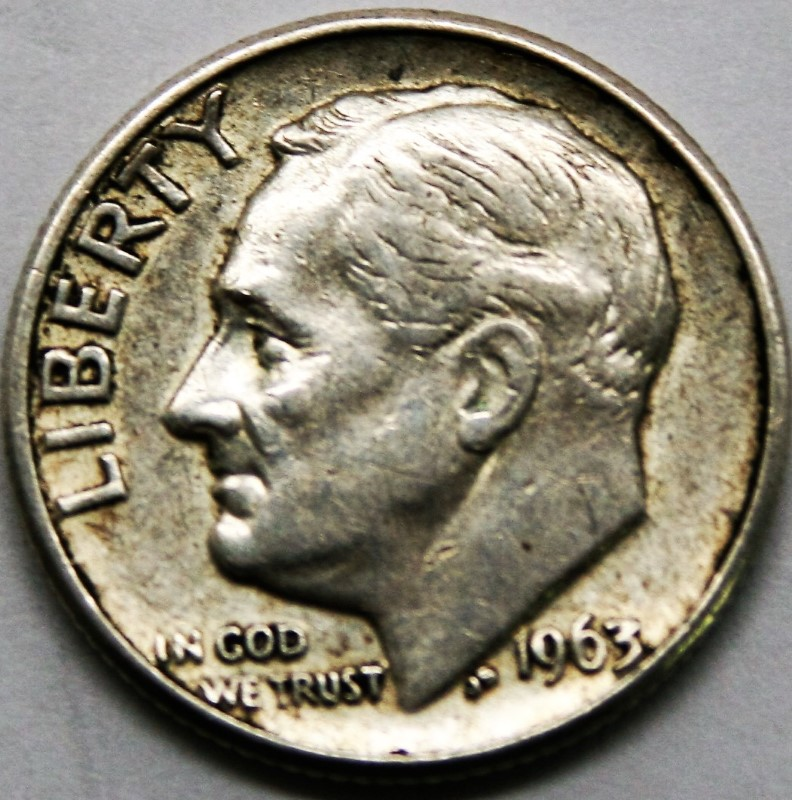 UNITED STATES SILVER COIN 1963 D ROOSEVELT DIME