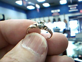 Lady's Diamond Solitaire Ring .15 CT. 14K Yellow Gold 1.5g