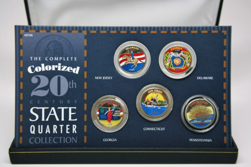 UNITED STATES 1999 PAINTED QUARTER SET