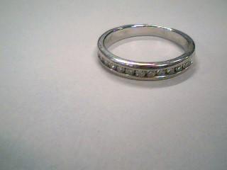 Lady's Diamond Wedding Band 13 Diamonds .26 Carat T.W. 14K White Gold 2.4g