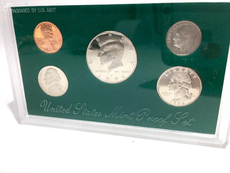 1994-1998 United States Proof Sets - 25 Coins 5 Sets - Box & COA