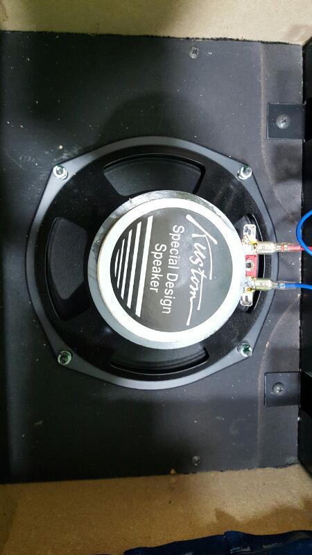 Kustom Rare Blue Tuck and Roll Electric Guitar Amplifier TR12L Amp 12 watt