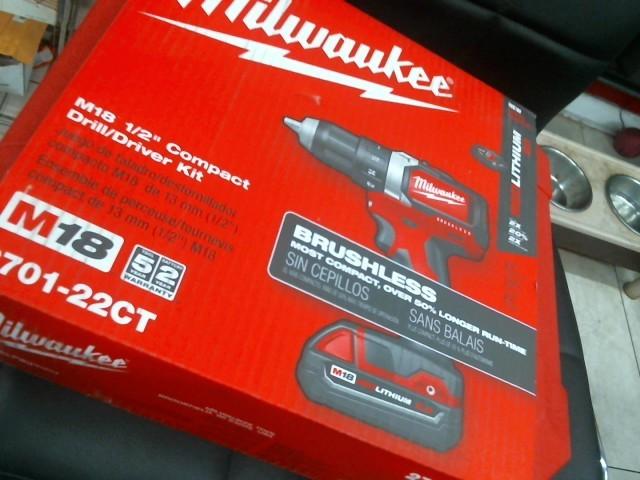 MILWAUKEE Cordless Drill 2701-22CT