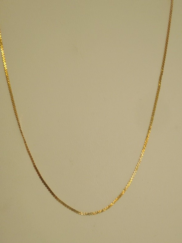 "16"" Gold Serpentine Chain 14K Yellow Gold 1.8g"